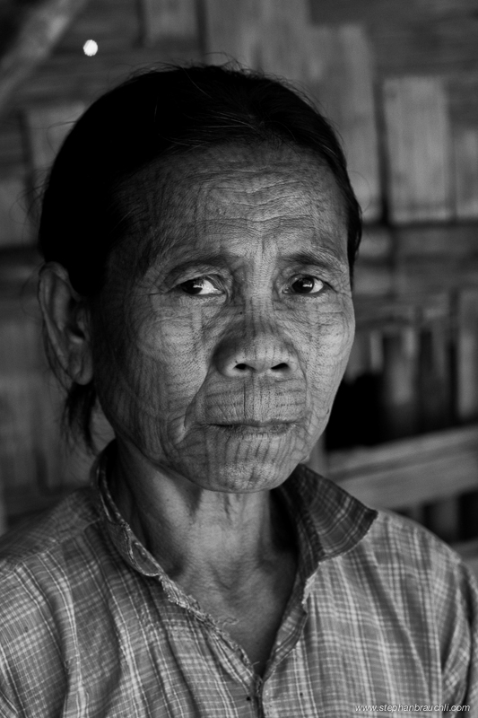 Chin woman with tribal tattoo