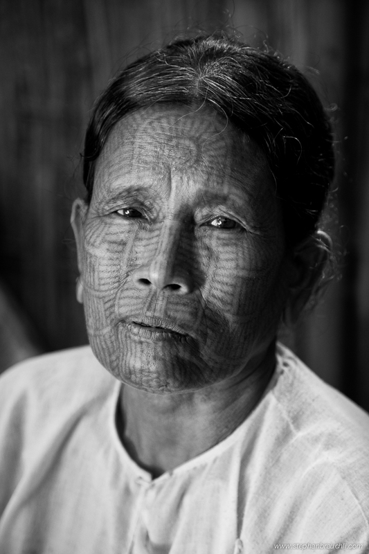 Chin woman with tribal tattoo