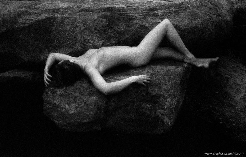 Siren's sleep - infrared nude photography