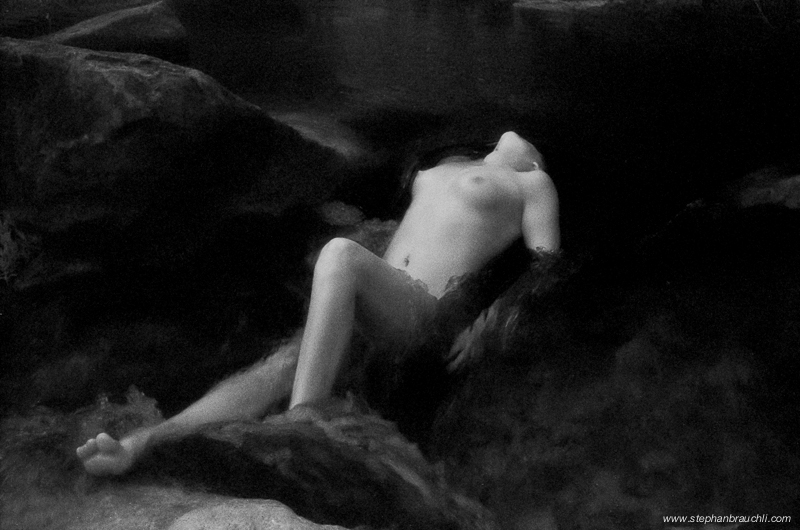 Neraid's repose - infrared nude photography