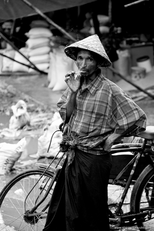 Burmese man - Sittwe