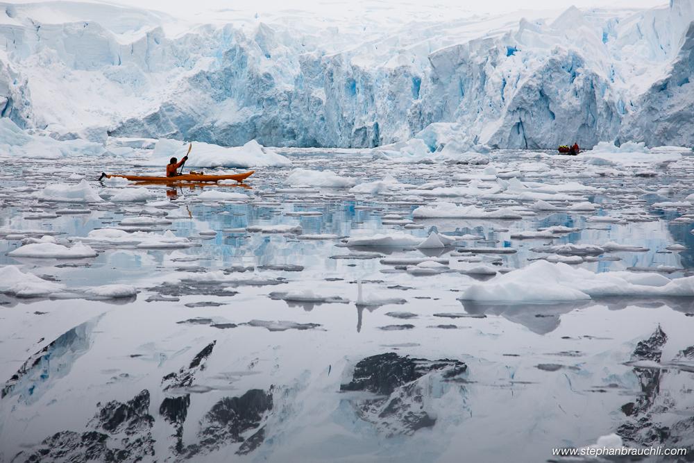 Kayaker in Paradise Bay